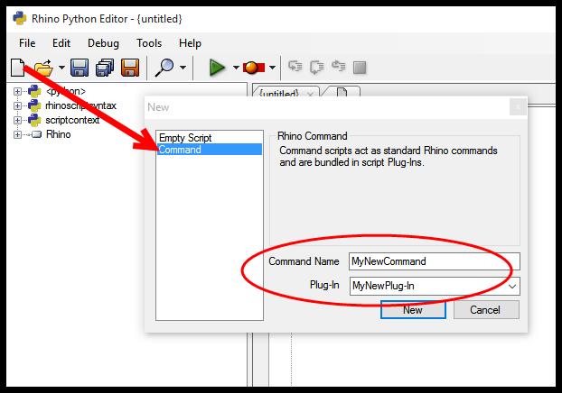 Creating Rhino Commands Using Python with Python