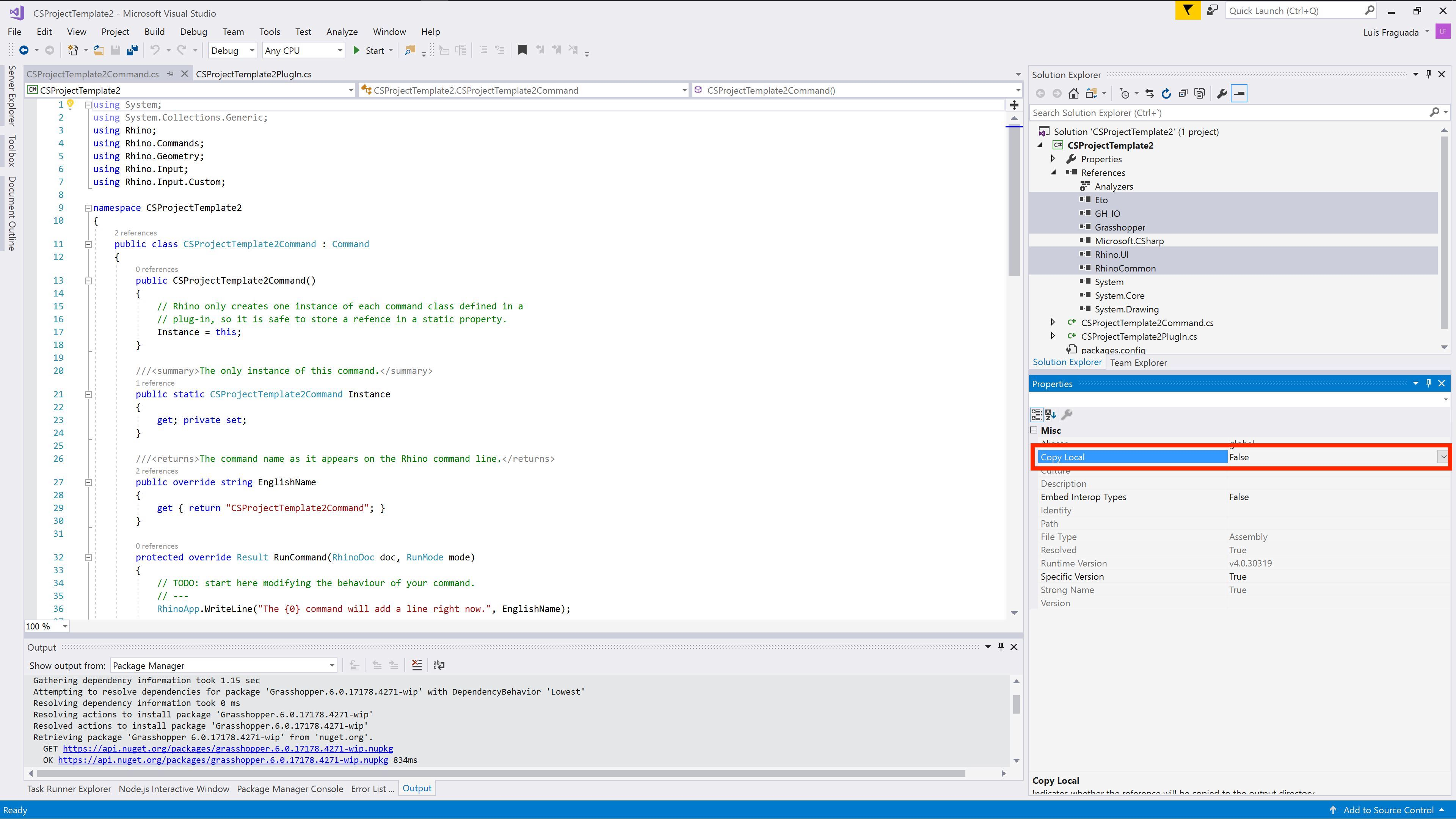 Using NuGet with C#